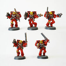 Warhammer 40k Army Space Marine Blood Angels assault  squad Painted and based