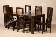 Dark Dakota Range - Wood Dining table with 6 Chair set (7 pc set) !!
