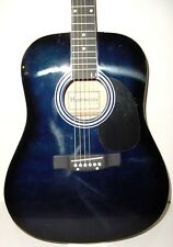 NEW FULL SIZE BLUE  STEEL STRING DREADNOUGHT ACOUSTIC GUITAR