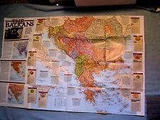 National Geographic February 2000 Gorillas Kosovo plus THE BALKANS WALL MAP supp