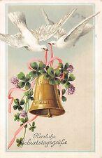 BG8846 pigeon bell clover flower  geburtstag birthday greetings germany