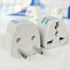 Universal US/UK/AU Travel Adapter to EU Euro AC Power Plug Converter Round pin