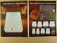 1963 Serta Perfect Sleeper Mattresses 8 Mattress Models photo vintage print Ad