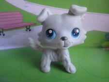 LPS Littlest Pet Shop PetShop 363 LIGHT GREY COLLIE DOG BLUE EYES Retired