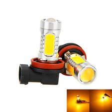 2x 6000K High Power H8 H11 COB Gelb LED Fog Driving Headlight Licht Lampen Birne
