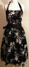 Vintage floral printing rockabilly Audrey Hepburn style dress