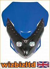 Motocross MX Twin Lights Spectre Fairing Headlight With Fixings Blue HLUSPEBU