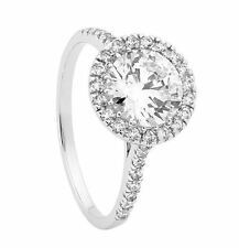 Georgini IR343-6 Sterling Silver Rhodium Plated Halo Large Ring Size 8 RRP$99