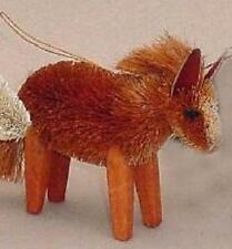 Horse Natural Brush Christmas Tree Ornament Chestnut Brown
