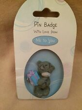 Russ - Me To You Teddy Pin Holding A Present - New