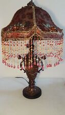 """STYLE AT HOME WITH MARGIE 30"""" O'SHEE BEADED VICTORIAN TABLE LAMP MULTI-COLORED"""