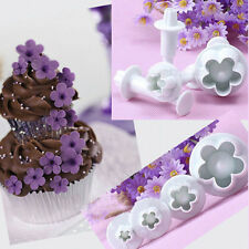 4Pcs/Set Christmas Mould Plum Flower Cutter Cake Cookie Decorating Tools