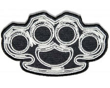 LOT OF 2 - BRASS KNUCKLES EMBROIDERED IRON BIKER PATCH