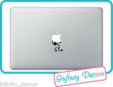 "Adesivo Stickers ""Omino che alza la mela"" per  MacBook Pro/Air 11"",13"",15"",17"""