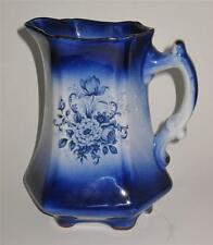 Staffordshire Pottery England MAYFAYRE Blue Pitcher, 6 1/4""
