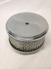 "4"" Chrome Air Cleaner kit 2.75"" Tall Filter breather 2x2 3x2 3 Deuce 1bbl 2bbl"