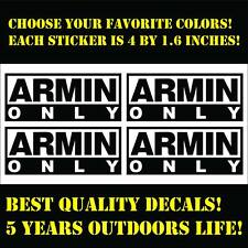 ARMIN VAN BUUREN ARMIN ONLY set of 4 vinyl stickers, choose colors, free ship