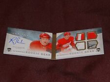 12-13 THE CUP Riley Sheahan Autograph Booklet Rookie Gear /25 AUTO RC Tag Strap