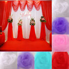 Sheer Organza Fabric Draping Swags Chair Bows Curtain Wedding Table Runner Voile