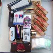Mega Kit, Large Wooden Rolling Box Kit. Grass Tobacco Weed Rizla Smoking