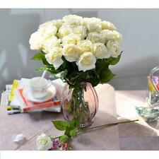 30 Head Real Touch Latex Rose Flowers 10 Colors wedding Bouquet Decoration
