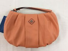 "NWT ""Simply Vera"" Wang Apricot Messina Wristlet Clutch Purse Bag Faux Leather"