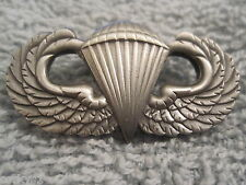 *US ARMY Airborne*Jump Wings Solid w/Antique Silver Plating Parachute Wings