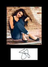 SELENA GOMEZ #3 Signed Photo Print A5 Mounted Photo Print - FREE DELIVERY
