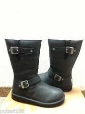 UGG KENSINGTON ORIGINAL BLACK LEATHER Boot US 6 / EU 37 / UK 4.5 - NEW