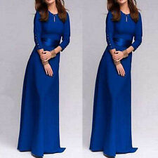 Winter Long Sleeved High Waist Bandage Formal Evening Party Prom Maxi Dress Gown