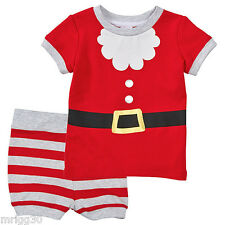 BABY size 00 CHRISTMAS SANTA Summer PYJAMAS  NEW  3 - 6 mths outfit costume pjs