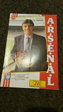 Arsenal v Liverpool Offical match Day Magazine  Dec 4th 1988