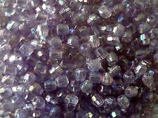 15g Acrylic Faceted Jewellery/Craft Beads Lilac AB 4mm