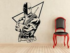 Deathstroke Wall Decal Superheroes Art Comics Vinyl Sticker Decor Mural (32z)