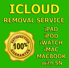 iCloud activation Off Unlock Removal Service Apple iPad iWatch iPod iMac MacBook