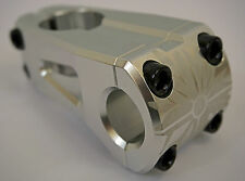 SEASON NEBULA SILVER HIGH POLISH HANDLEBAR STEM 1 1/8 - BMX BIKE - RRP £49.99
