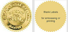 "100 Serrated Starburst Gold Foil Notary Reward Seal Labels 2"" Emboss /Print"
