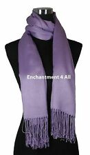 Handmade 100% 2-Ply Pashmina Cashmere Bridal Scarf Shawl Wrap XL Lavender Solids