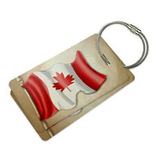 Vintage Canadian Flag Canada Suitcase Bag ID Luggage Tag Set