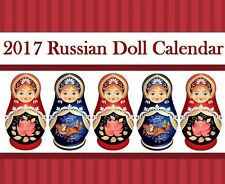 2017 Babushka Russian Doll  Matryoshka Wall Calendar NEW !