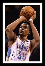 KEVIN DURANT - OKLAHOMA CITY THUNDER AUTOGRAPHED SIGNED & FRAMED PP POSTER PHOTO