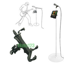 "Music Microphone Stand Holder Mount For 7-11"" Tablet iPad Air 5 4 3 2 SamsungTa"