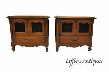 Pair French Country Chests By Drexel Single Drawer Circa 1967