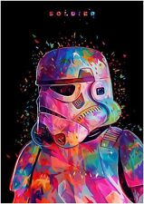 STAR WARS SOLDIER STORM TROOPER ART IMAGE A4 POSTER GLOSS PRINT LAMINATED