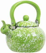 Reston Lloyd Calypso Basics Marble Whistling Teakettle, 2 quart, Lime