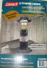 Coleman Camping Lantern 2-Mantle Propane Case Outdoor Tent Camp Lamp Light