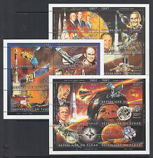 Chad Sc 705-711 MNH. 1997 History of Space Travel, 7 sheets, cplt set, VF.