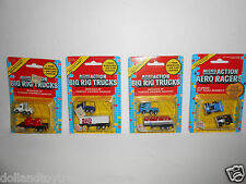 Vintage Funrise Micro Action Big Rig Trucks and Aero Racers Lot of 4