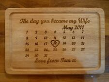 Personalised 5th Wedding Anniversary Chopping Board: Unique Wooden gift