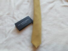 $350 NWT Authentic BURBERRY PRORSUM Mens Antique Yellow Silk Skinny Tie